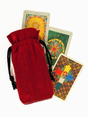 Ruby Silk Tarot Bag - Ruby Red Silk Tarot Bag
