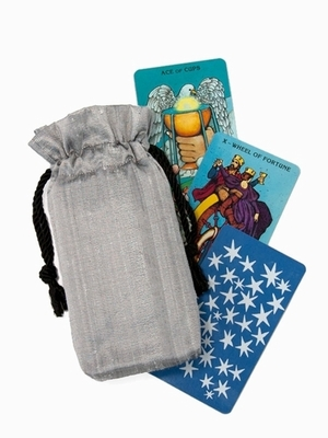 Silver Silk Tarot Bag - Moonlight Silver Silk Tarot Bag