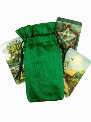 Emerald Silk Tarot Bag - Emerald Green Silk Tarot Bag