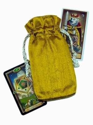 Gold Silk Tarot Bag - Gold Silk Tarot Bag