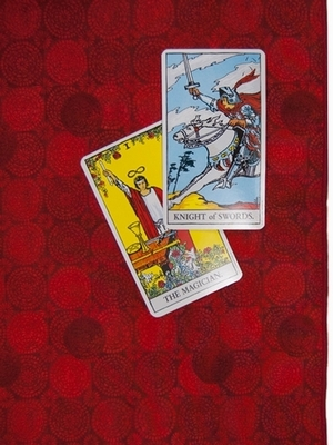 Blood Moon Tarot Cloth - Blood Moon Tarot Reading Cloth