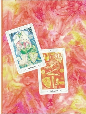Ostara Tarot Cloth - Ostara Altar or Tarot Cloth