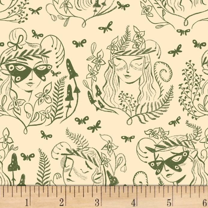 Dryads Tarot Bag Fabric Swatch
